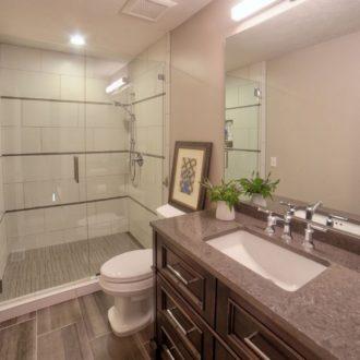 beautiful bathroom renovation from Nates Custom Renovations